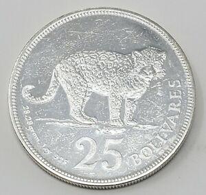 1975 Venezuela 25 Bolivares  Gram 28.28 Siver Coins