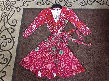 Diane Von Frustenberg DVF Irina Print Wrap Dress Size 8, 10