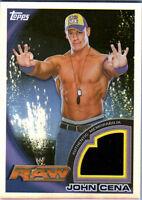 WWE John Cena JCR-1 2010 Topps Redemption Replacement Shirt Relic Card