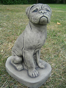 Boxer Dog stone garden ornament/other design's in my shop