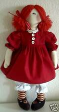 PRIMITIVE FOLK ART SEWING PATTERN 'WENDY' LARGE RAG DOLL