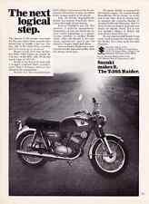 1968 SUZUKI T-305 RAIDER 305cc MOTORCYCLE  ~  ORIGINAL PRINT AD