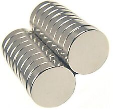 "100 - EXTRA LARGE Rare Earth Neodymium Magnets 1/2"" x 1/8"" Inch Round Bottle Cap"