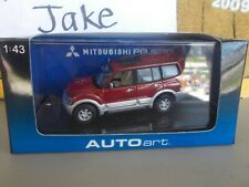 SEALED AUTOART DIECAST 1/43 SCALE MITSUBISHI PAJERO LWB 4DRS 1999 RED #57102