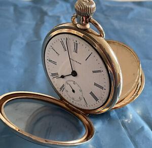 WALTHAM Vintage Gold Colour Pocket Watch, Grade Traveler