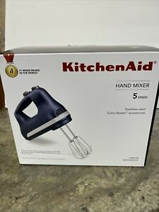 New KitchenAid 5-Speed Ultra Power Hand Mixer khm512IB Matte Ink Blue