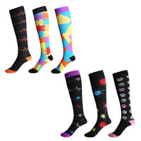 Compression Socks 48-55CM For Women Men Medical Nursing Travel Flight Sport S-XL