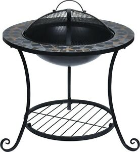 Steel Outdoor Fire Pit Bowl Round Patio Fire LARGE Outdoor Fire Pit 58cm Mosaic