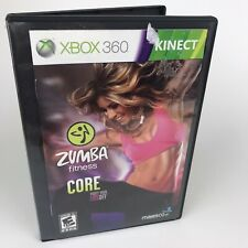 Zumba Fitness Core Microsoft Xbox 360 Kinect Manual & Disc