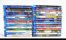 30 Assorted Children/Disney Bluray Movies Toy Story 1 2 3 Shrek Megamind (4886)