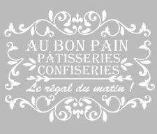 Pochoir Adhésif Réutilisable 30 x 20 cm Affiche Au Bon Pain, Pâtisseries