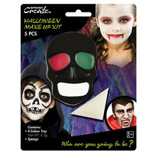 Spaventoso Horror Scheletro Teschio Ossa Halloween Viso Pittura stage Make Up Kit