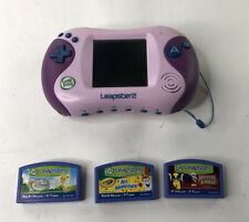 LeapFrog Leapster2 Learning Game System, Pink & Purple Plus Games~Good Condition