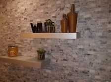 Split Face Natural Stone Sparkly White, Light Grey Quartz Wall Cladding tiles