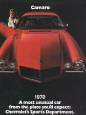 CAMARO 1970 Sales Brochure 70