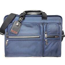 TUMI Alpha Bravo Gen 4 Compact Large Computer Screen Commuter Briefcase Bag Blue