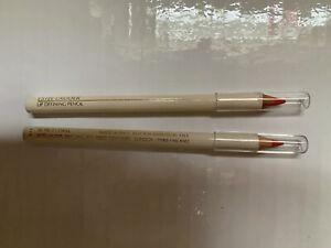RARE! New! Lot Of 2 Estée Lauder 06 TRUE CORAL Lip Liner Free Shipping!