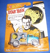 MATTEL REAL RIDERS STAR TREK COLLECTOR HOT WHEELS CARS CAPTAIN KIRK '49 FORD NEW