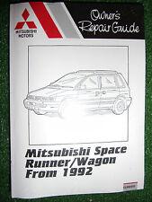 MITSUBISHI SPACE RUNNER & WAGON petrol + Turbo-diesel WORKSHOP MANUAL 1992-2000