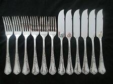 WMF Abbeville 9200 Rokoko 90 Silber Fischbesteck 6 Fischmesser 6 Fischgabel TOP