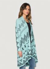 NWT Johnny Was Biya Genoa embroidery sweater wrap in turquoise L $398