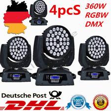 4x 360W LED Moving Head Licht DMX512 DJ Bühnenbeleuchtung Stage Wash Lichter DHL