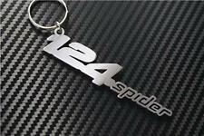 Fiat 124 SPIDER W keyring Schlüsselring porte-clés COUPE CONVERTIBLE TURBO 1.4