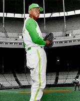 Satchel Paige #3 Photo 8X10 - KC A'S 1965 COLORIZED