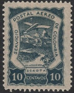 1921 Colombia SC# C26 - Plane over Magdalena River - M-H