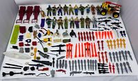VINTAGE Hasbro GI Joe Cobra ARAH Action Figure Lot Weapons, Parts, 1980's-90'