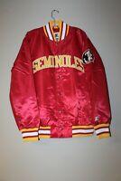 New NCAA Florida State Seminoles polyester satin red jacket men's L LAST 1