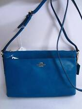 NWT COACH Teal Smith Madison Leather East West SWINGPACK Bag Crossbody 52638