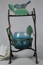 New Votive Holder Wire Nest & Bird-Blue & Green By Enchanted Garden #Pa3122 Nwt