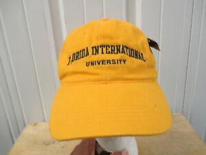 VINTAGE FLORIDA INTERNATIONAL F.I.U. PANTHERS SEWN STRAPBACK CAP HAT NEW W/ TAGS