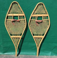 EXCELLENT OLD SNOWSHOES 42x15 ANTIQUE Snow Shoes Must See!