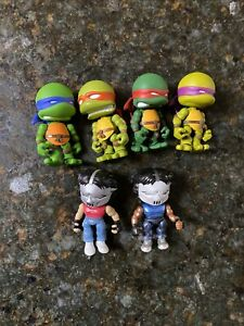 2014 Loyal Subjects TMNT Teenage Mutant Ninja Turtles 2 Casey Jones & 4 Turtles