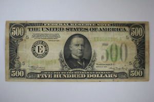 1934 $500 RICHMOND Federal Reserve Note FR2201-E