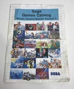 SEGA MASTER SYSTEM 2 - RARE PROMOTIONAL FLYER - GAMES CATALOG CATALOGUE -