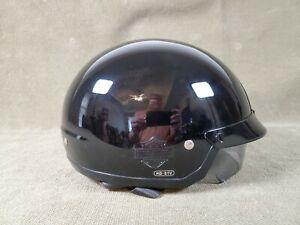 Harley Davidson HD-S1V Black Motorcycle Half-Helmet w/ Retractable Visor / XXL