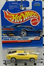 MACH 1 1970 70 1998 670 1ST EDITION 29 YELLOW 5 SPOKE MUSTANG FORD HW HOT WHEELS