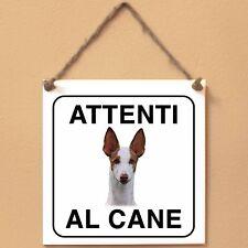 Podenco ibicenco 1 Attenti al cane Targa cane cartello ceramic tles