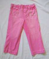 MOTHERHOOD Trendy Pink Maternity Capri Jeans Bleached Distressed SMALL (4-6)