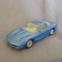 34E Burago Chevrolet Corvette C5 Coupé Bleu 1:43