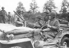 WW2  Photo WWII US Gen. Raymond Barton Seigfried Line 1944  World War Two / 1593