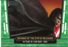 Star Wars 40th Anniversary Green Base Card #89 Revenge of the Sith is Released