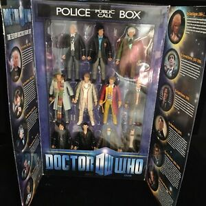 Dr Who ELEVEN DOCTORS figure set NEW SEALED Tardis Collectors Box Character 11