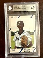 MARIANO RIVERA 1990 DIAMOND CARDS TAMPA YANKEES 1ST ROOKIE CARD BGS 8.5 NM/MT+