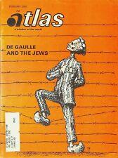 Atlas Magazine February 1968 Charles De Gaulle & the Jews China Africa