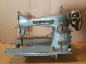 Vintage Dressmaker Deluxe Precision Sewing Machine For Parts or Repair