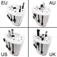 Universal World European EU USB Multi Travel Mains Plug Socket Charger Adapter